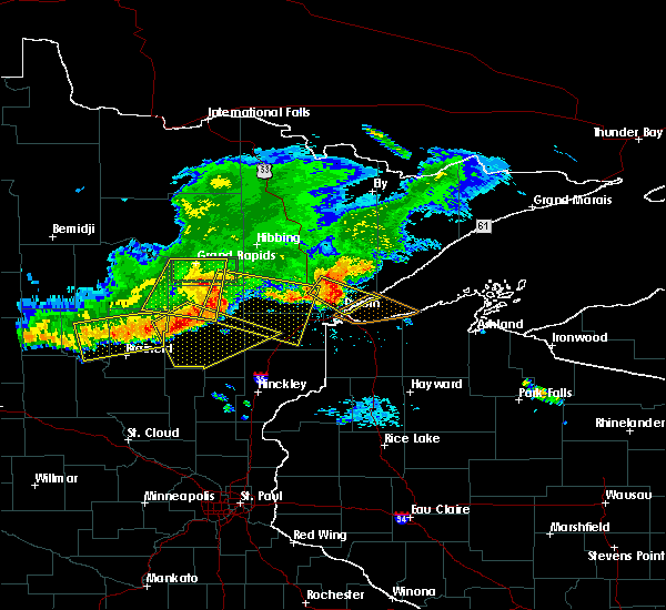 Radar Image for Severe Thunderstorms near Cohasset, MN at 7/21/2017 7:23 PM CDT