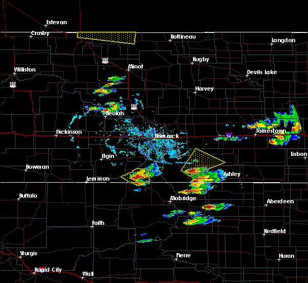 Radar Image for Severe Thunderstorms near Wishek, ND at 7/21/2017 7:23 PM CDT