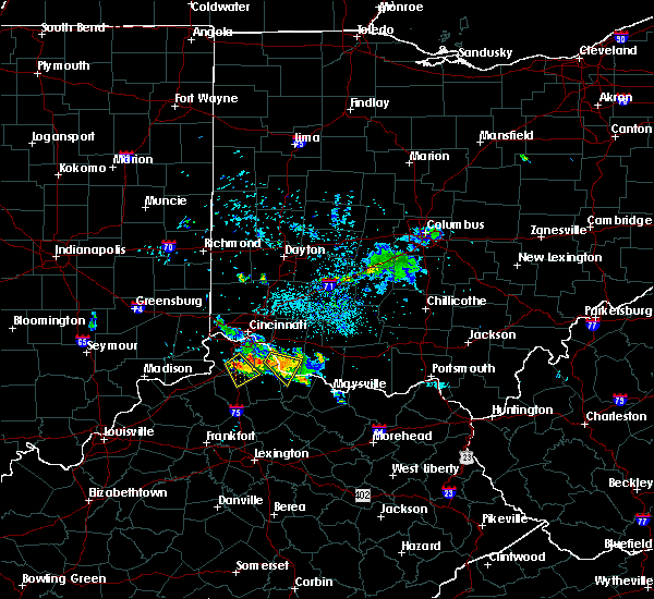 Radar Image for Severe Thunderstorms near Moscow, OH at 7/21/2017 8:26 PM EDT