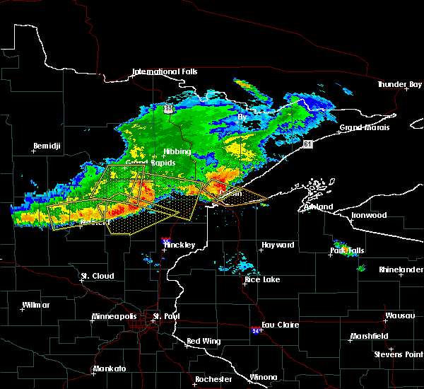 Radar Image for Severe Thunderstorms near Duluth, MN at 7/21/2017 7:30 PM CDT