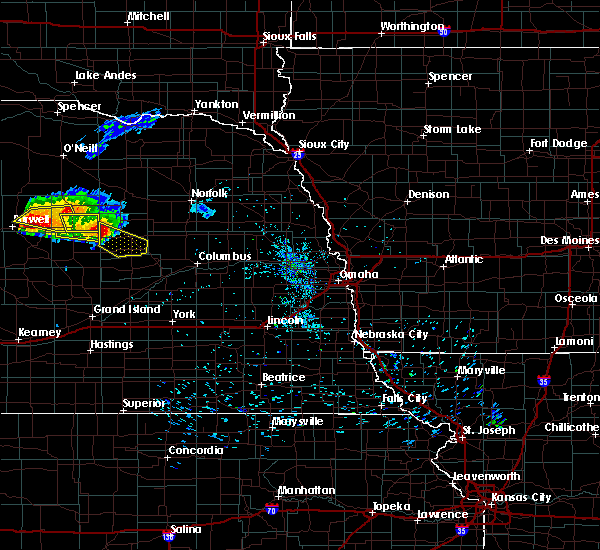 Radar Image for Severe Thunderstorms near St. Edward, NE at 7/21/2017 7:42 PM CDT