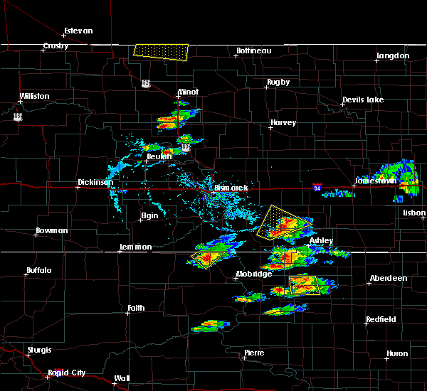 Radar Image for Severe Thunderstorms near Wishek, ND at 7/21/2017 7:55 PM CDT