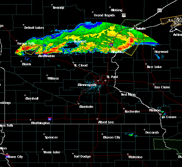 Radar Image for Severe Thunderstorms near Garfield, MN at 7/21/2017 8:54 PM CDT