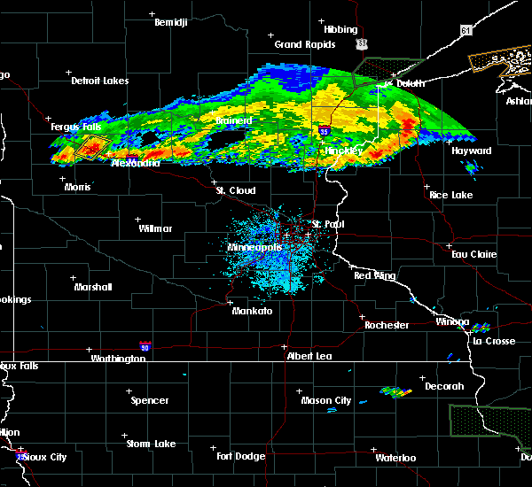 Radar Image for Severe Thunderstorms near Garfield, MN at 7/21/2017 9:13 PM CDT