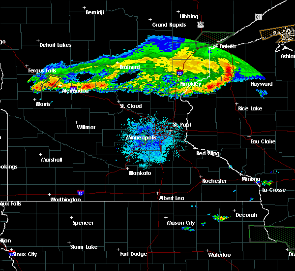 Radar Image for Severe Thunderstorms near Garfield, MN at 7/21/2017 9:24 PM CDT