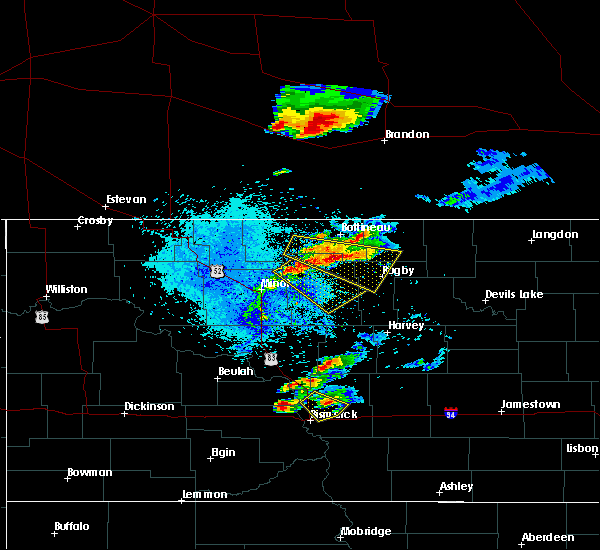 Radar Image for Severe Thunderstorms near Karlsruhe, ND at 7/21/2017 9:44 PM CDT