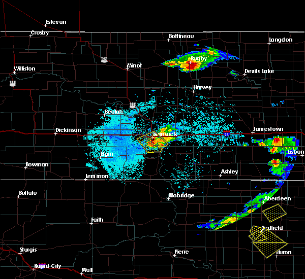 Radar Image for Severe Thunderstorms near Lincoln, ND at 7/21/2017 10:48 PM CDT