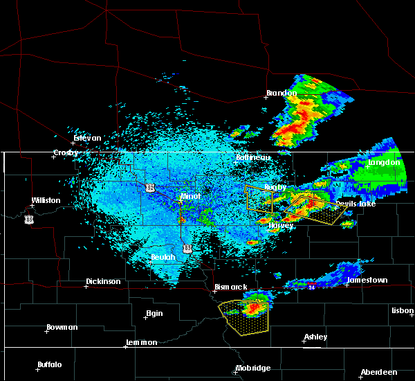 Radar Image for Severe Thunderstorms near Brinsmade, ND at 7/21/2017 11:35 PM CDT