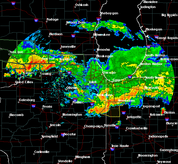 Radar Image for Severe Thunderstorms near Otterbein, IN at 7/22/2017 12:39 AM CDT