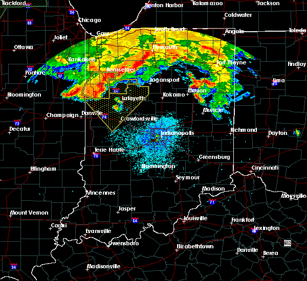 Radar Image for Severe Thunderstorms near Otterbein, IN at 7/22/2017 2:02 AM EDT