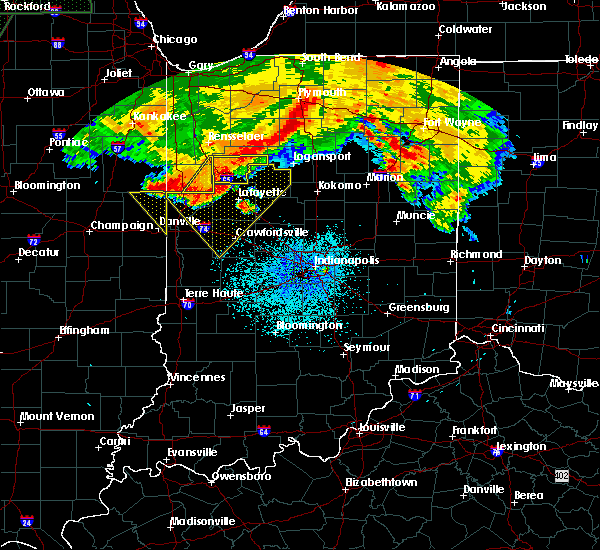 Radar Image for Severe Thunderstorms near Otterbein, IN at 7/22/2017 2:19 AM EDT