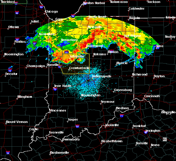 Radar Image for Severe Thunderstorms near Otterbein, IN at 7/22/2017 2:48 AM EDT