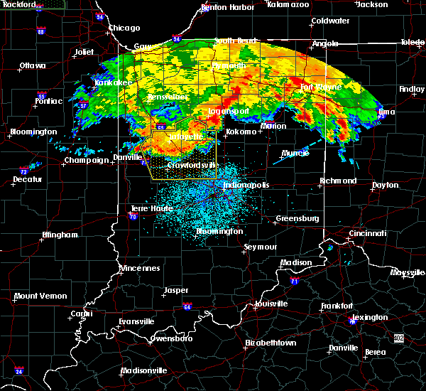 Radar Image for Severe Thunderstorms near Otterbein, IN at 7/22/2017 3:02 AM EDT