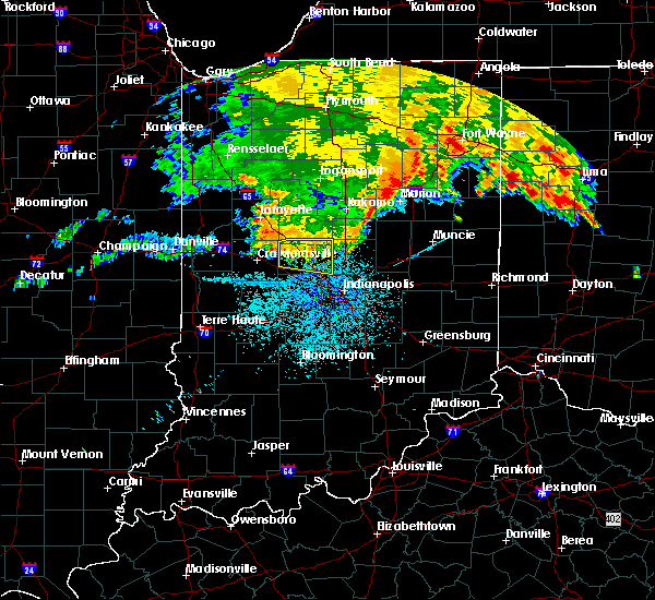 Radar Image for Severe Thunderstorms near Whitestown, IN at 7/22/2017 3:39 AM EDT