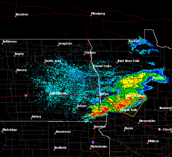 Radar Image for Severe Thunderstorms near Perham, MN at 7/22/2017 4:29 AM CDT