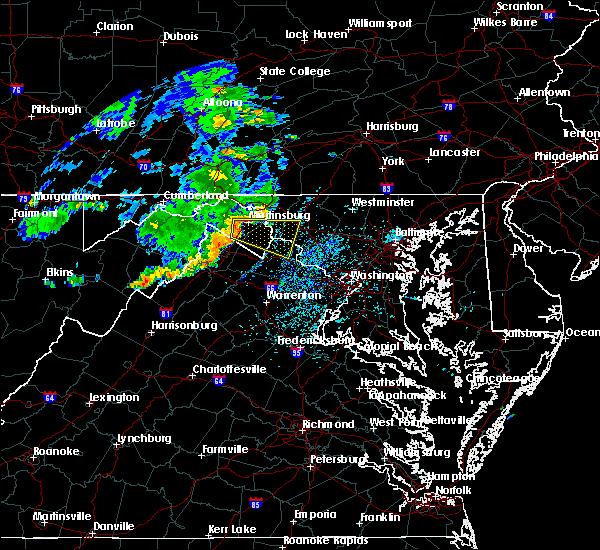 Radar Image for Severe Thunderstorms near Antietam, MD at 7/22/2017 1:02 PM EDT