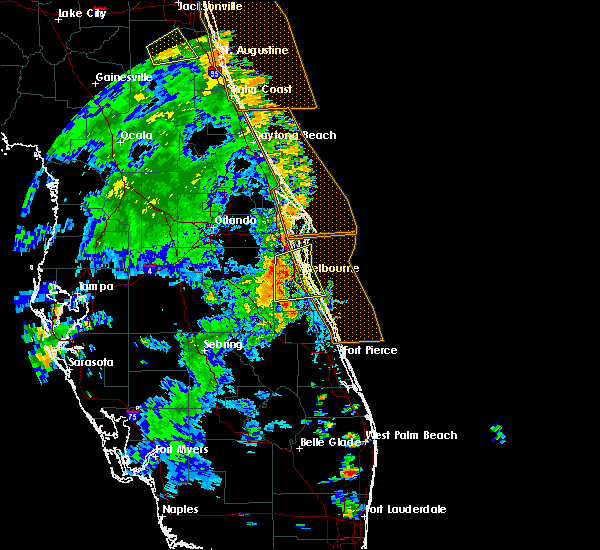 Radar Image for Severe Thunderstorms near Merritt Island, FL at 7/22/2017 3:39 PM EDT