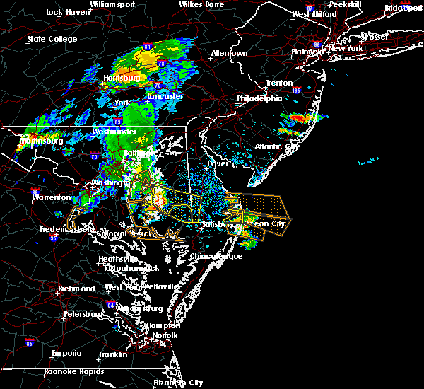 Radar Image for Severe Thunderstorms near Mardela Springs, MD at 7/22/2017 3:51 PM EDT