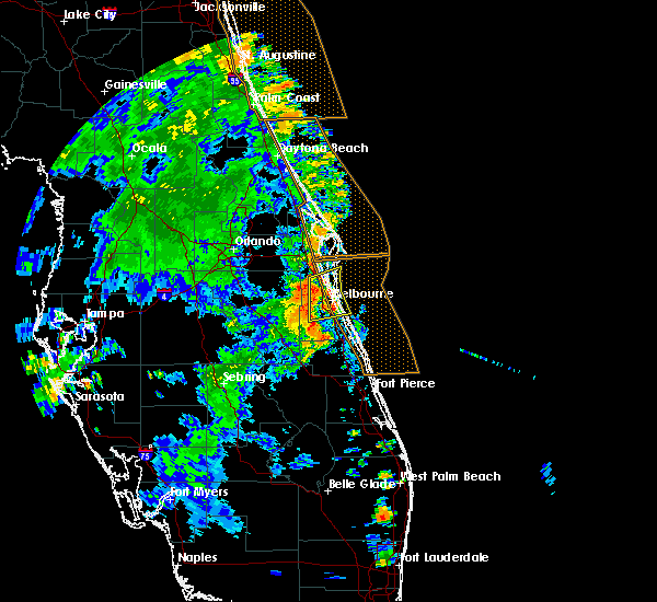 Radar Image for Severe Thunderstorms near Merritt Island, FL at 7/22/2017 3:55 PM EDT