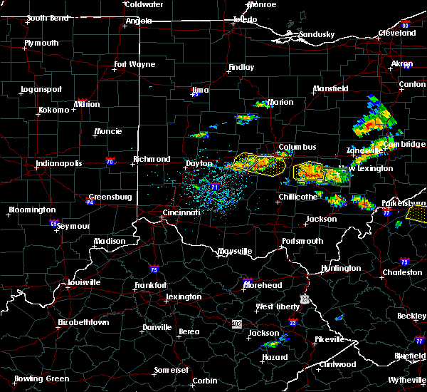 Radar Image for Severe Thunderstorms near Lafayette, OH at 7/22/2017 3:55 PM EDT