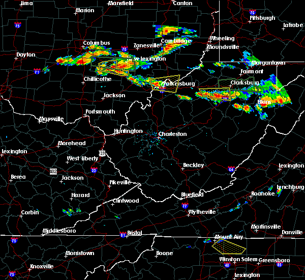 Radar Image for Severe Thunderstorms near Parkersburg, WV at 7/22/2017 4:20 PM EDT
