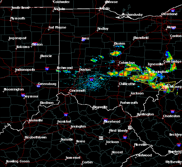 Radar Image for Severe Thunderstorms near Logan, OH at 7/22/2017 4:29 PM EDT