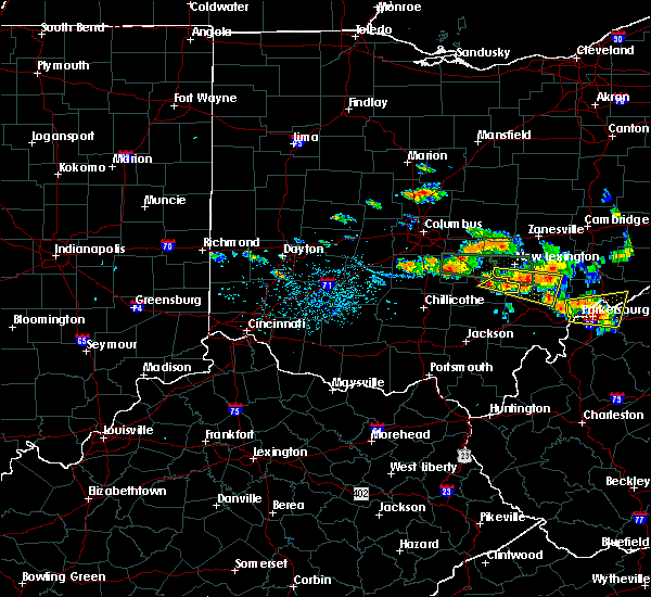 Radar Image for Severe Thunderstorms near Logan, OH at 7/22/2017 4:41 PM EDT