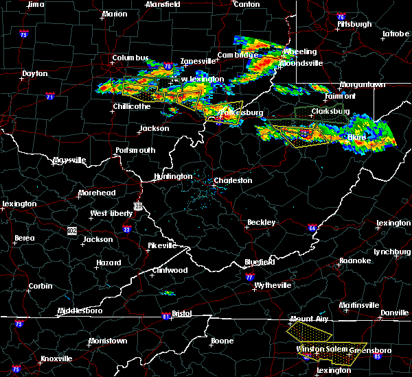 Radar Image for Severe Thunderstorms near Amesville, OH at 7/22/2017 4:48 PM EDT