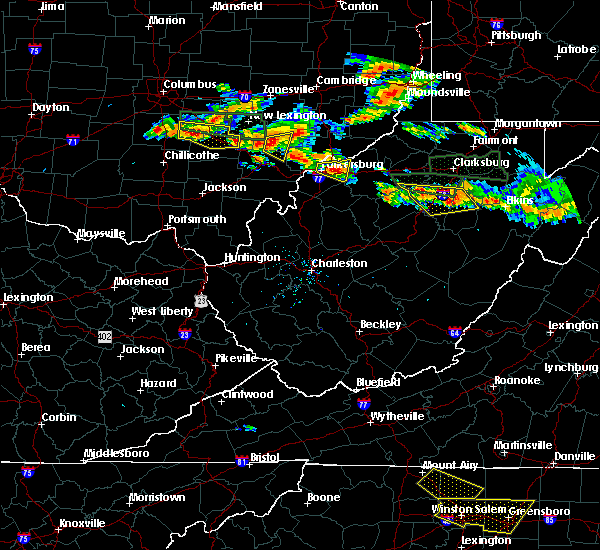 Radar Image for Severe Thunderstorms near Amesville, OH at 7/22/2017 4:51 PM EDT