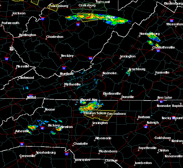 Radar Image for Severe Thunderstorms near Tobaccoville, NC at 7/22/2017 4:54 PM EDT