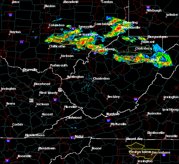 Radar Image for Severe Thunderstorms near Weston, WV at 7/22/2017 4:54 PM EDT