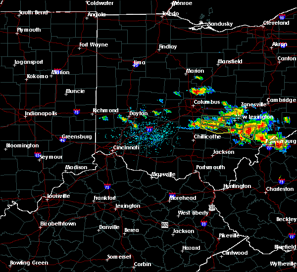 Radar Image for Severe Thunderstorms near Logan, OH at 7/22/2017 5:00 PM EDT