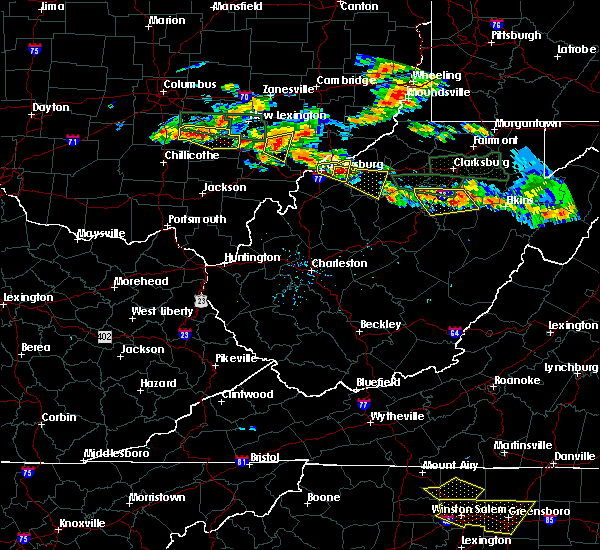 Radar Image for Severe Thunderstorms near Cairo, WV at 7/22/2017 5:00 PM EDT