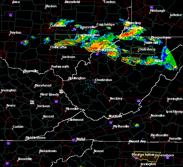 Radar Image for Severe Thunderstorms near Weston, WV at 7/22/2017 5:22 PM EDT