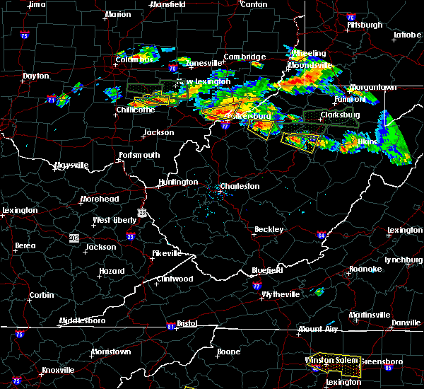 Radar Image for Severe Thunderstorms near Weston, WV at 7/22/2017 5:31 PM EDT