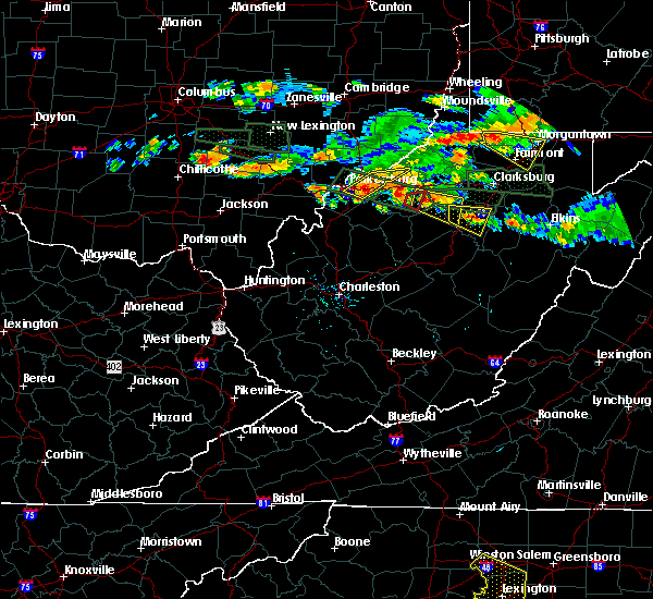 Radar Image for Severe Thunderstorms near Parkersburg, WV at 7/22/2017 6:00 PM EDT
