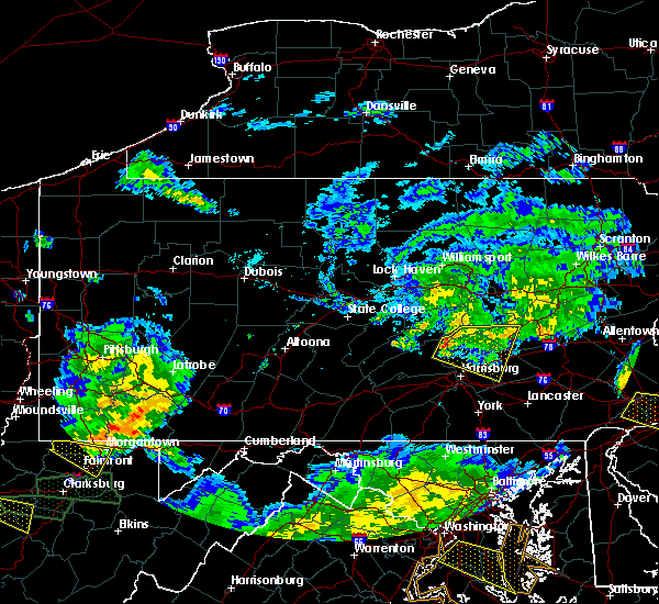 Radar Image for Severe Thunderstorms near Palmyra, PA at 7/22/2017 6:10 PM EDT