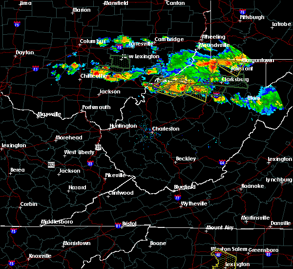 Radar Image for Severe Thunderstorms near Parkersburg, WV at 7/22/2017 6:10 PM EDT