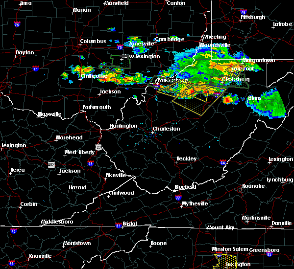Radar Image for Severe Thunderstorms near Cairo, WV at 7/22/2017 6:29 PM EDT