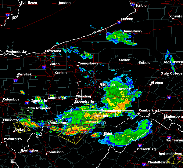 Radar Image for Severe Thunderstorms near Westover, WV at 7/22/2017 6:42 PM EDT