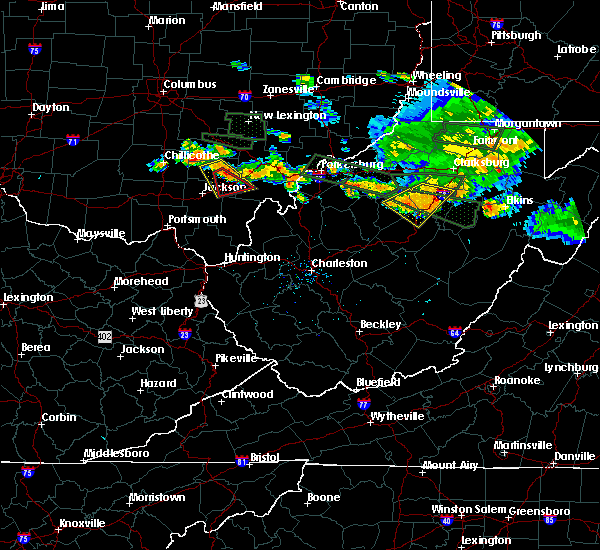 Radar Image for Severe Thunderstorms near McArthur, OH at 7/22/2017 6:57 PM EDT