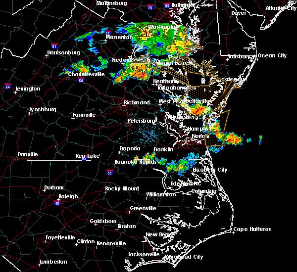 Radar Image for Severe Thunderstorms near Tappahannock, VA at 7/22/2017 7:07 PM EDT