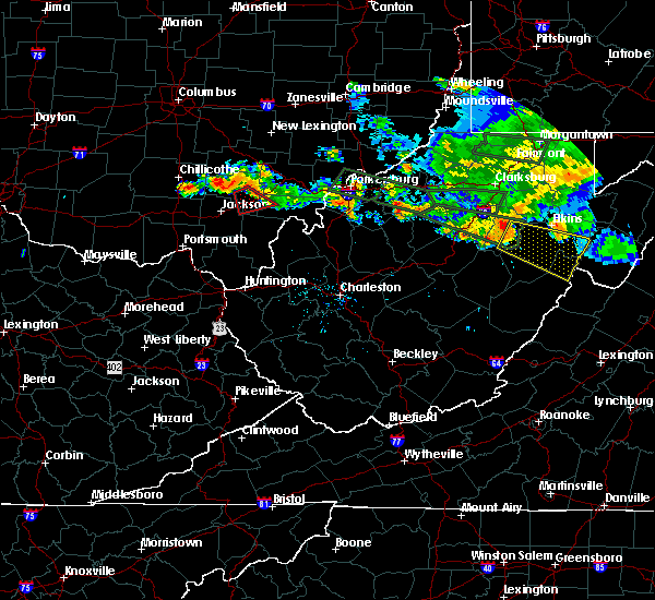 Radar Image for Severe Thunderstorms near Dailey, WV at 7/22/2017 7:20 PM EDT