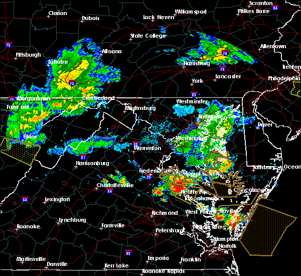 Radar Image for Severe Thunderstorms near King George, VA at 7/22/2017 7:26 PM EDT