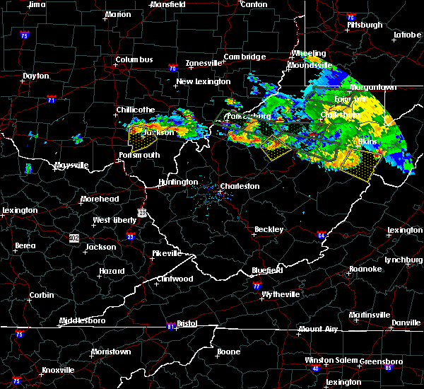 Radar Image for Severe Thunderstorms near Dailey, WV at 7/22/2017 7:41 PM EDT