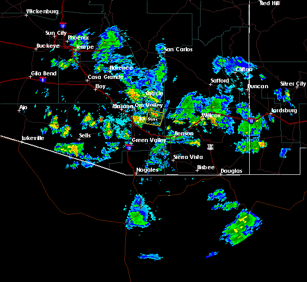 Radar Image for Severe Thunderstorms near Tucson, AZ at 7/22/2017 5:34 PM MST