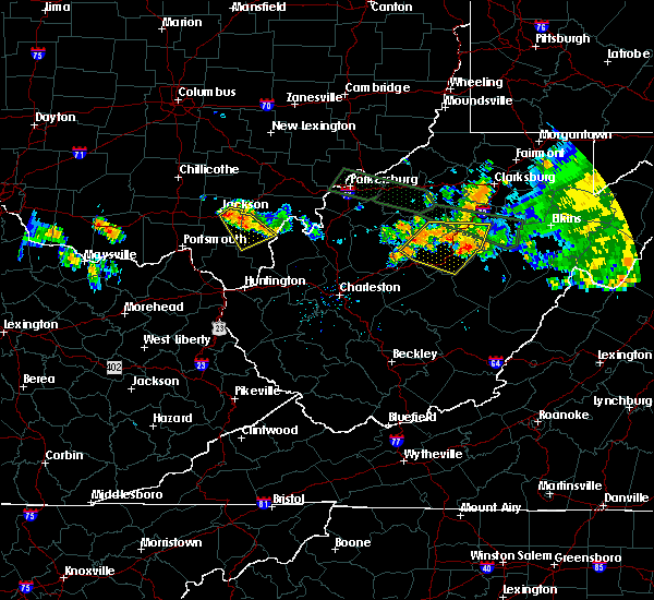 Radar Image for Severe Thunderstorms near Jackson, OH at 7/22/2017 8:43 PM EDT
