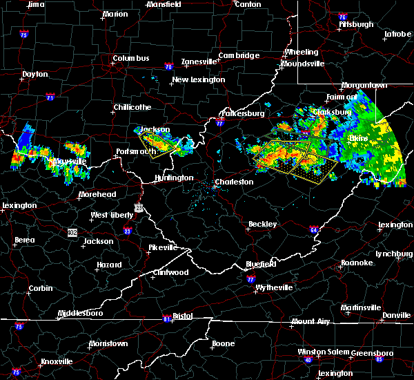 Radar Image for Severe Thunderstorms near Jackson, OH at 7/22/2017 8:55 PM EDT