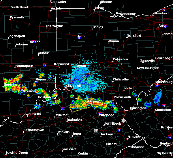 Radar Image for Severe Thunderstorms near Aberdeen, OH at 7/22/2017 9:42 PM EDT