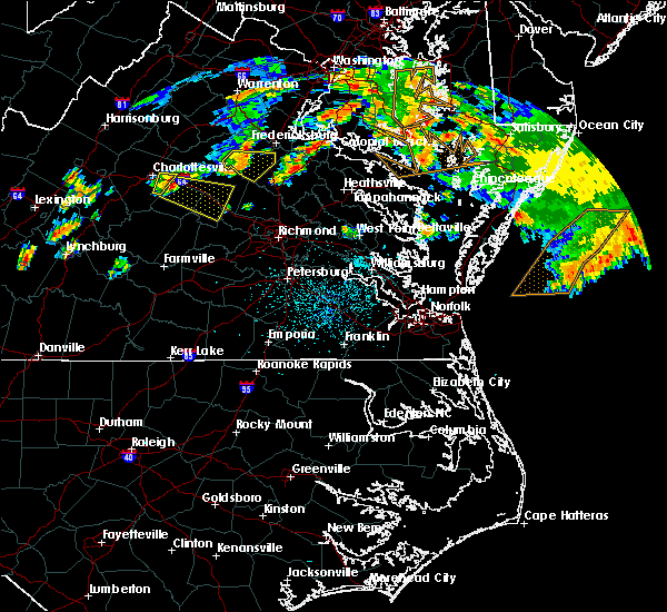 Radar Image for Severe Thunderstorms near Palmyra, VA at 7/22/2017 10:50 PM EDT